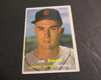 Late 1950's Jim Small Detroit Tigers Baseball Card circa 1957.