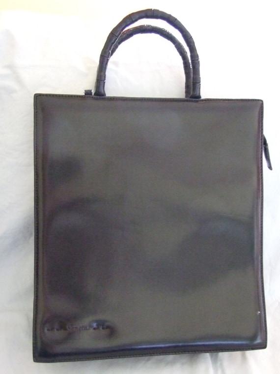 665895a4a631 Vintage Sanctus patent leather bag woman handbag woman