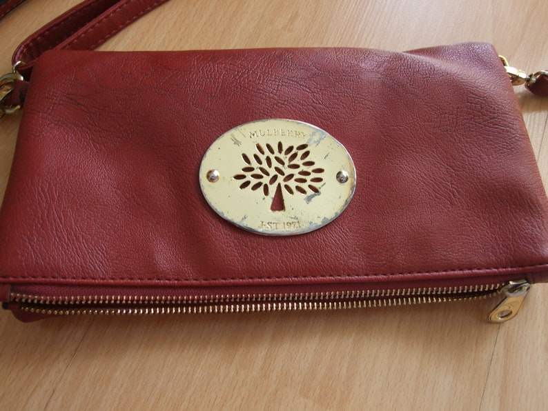 6ea483b1304 Mulberry Clutch Mulberry Genuine Leather Bag Designer Bag | Etsy
