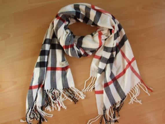 Vintage Kenuo Schal foulard chèque de nova 100 % cachemire   Etsy 675fd862358