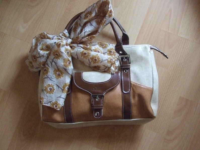 2233633d31b2 Vintage Es Carte spanish handbag orange   brown warm colors