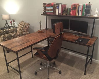 Fantastic Wood Desk Etsy Download Free Architecture Designs Grimeyleaguecom