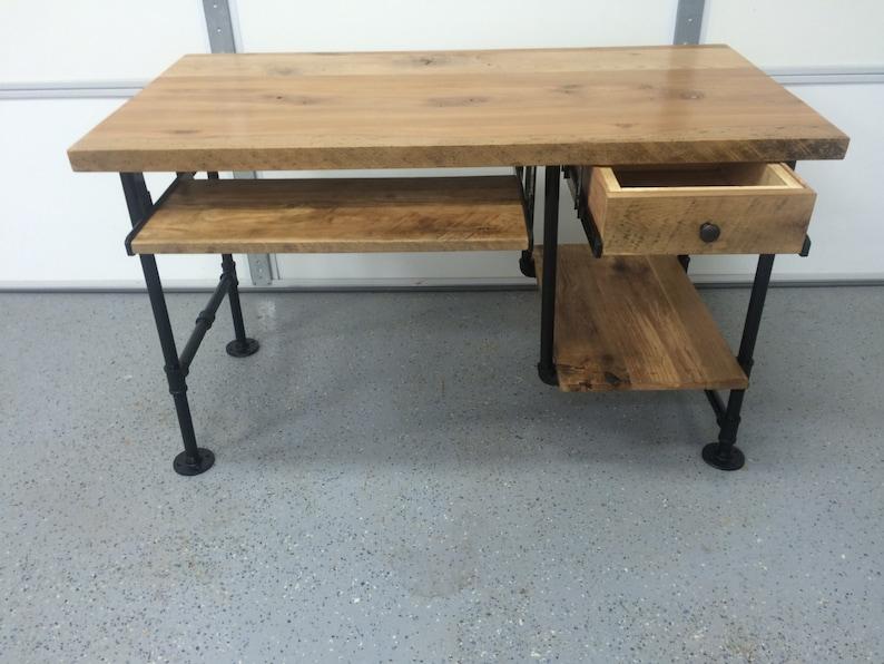 Bureau dordinateur bureau bois table de bois de grange etsy