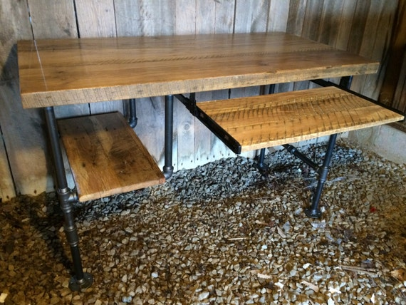 Ordinateur de bureau table en bois table de bois de grange etsy