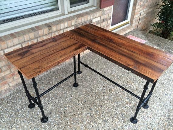 huge selection of 752fe 29052 Desk, L Shaped Desk, Reclaimed Wood Desk, Corner Desk, Computer Desk, Wood  Office Desk - Solid Oak W/ 28