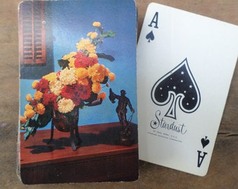 vintage deck of Playing Cards ANTIQUE FLOWERS