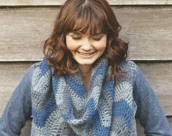 Instant Download - PDF-Beautiful Zigzag Cowl or Skirt Crochet Pattern (CA3)
