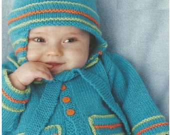707bc3c6370 Instant Download - PDF- Easy Pretty Baby Cardigan and Hat Knitting Pattern  (71)