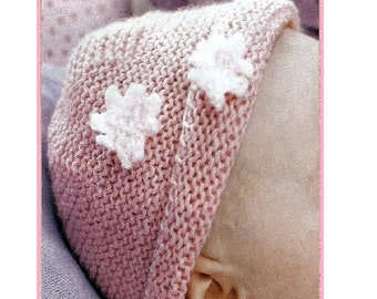 9ffbbf39ef9 Instant Download - PDF- Lovely Easy Baby Beanie Hat Knitting Pattern (37)