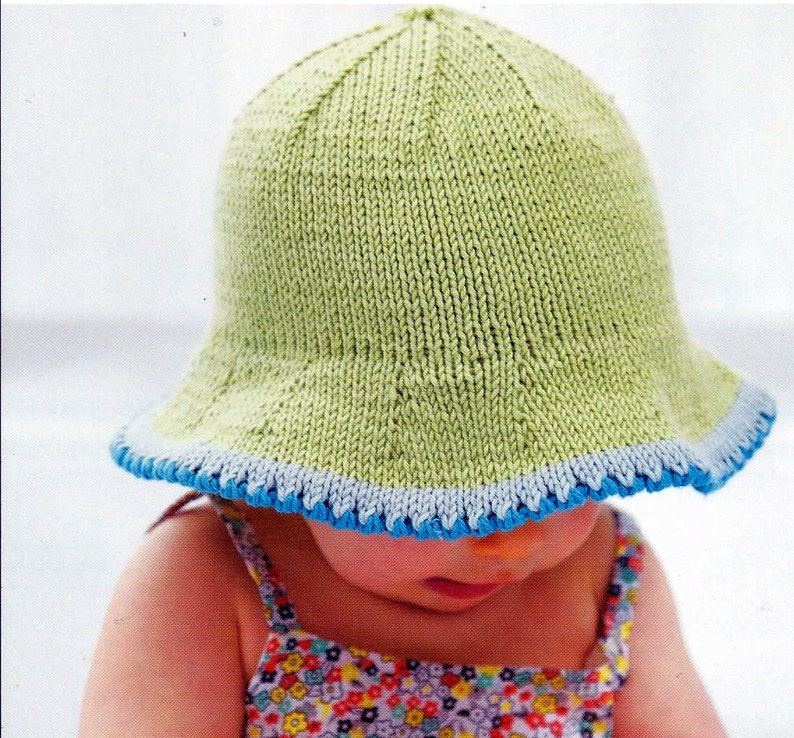 d2e0e3cc05a Instant Download PDF Baby Sun Hat Knitting Pattern 38