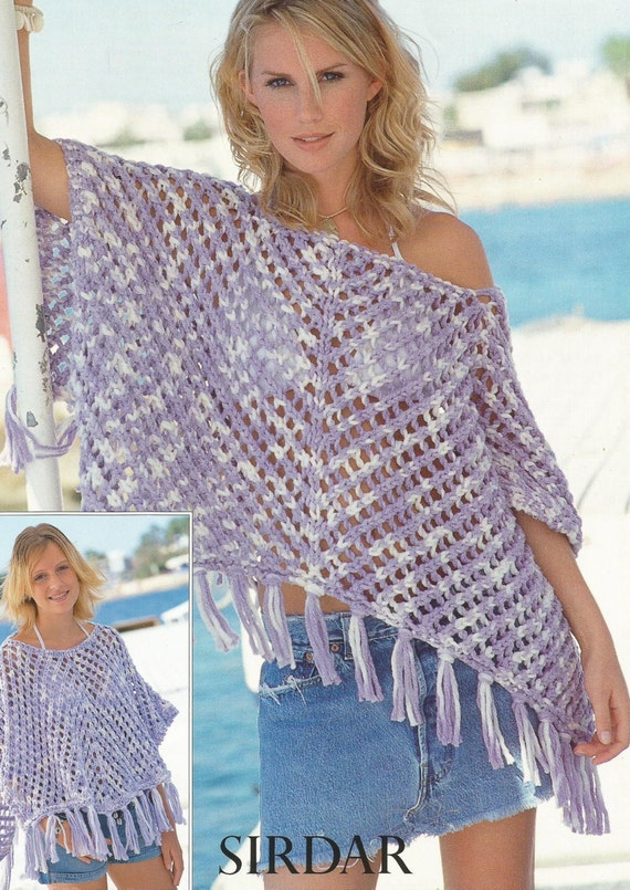 Instant Download Pdf Lovely Super Chunky Poncho Knitting Etsy