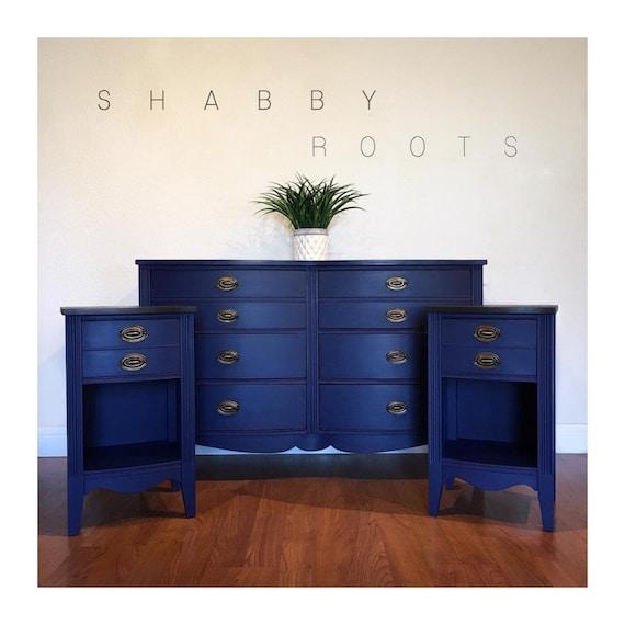 Sold Antique Federal Bedroom Set In, Navy Blue Dresser Bedroom Furniture