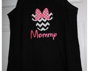 Minnie Shirts ~ Bella Ladies Flowy Racerback Tank Top
