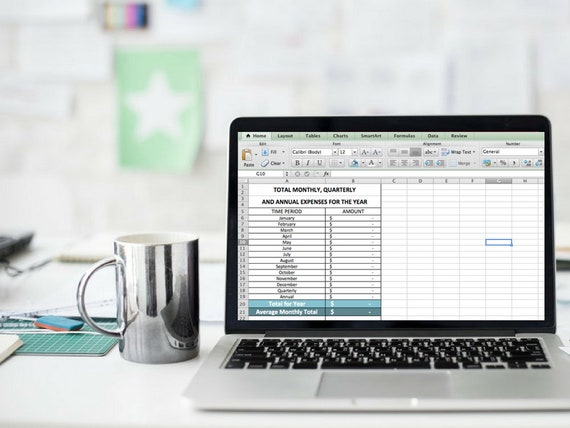 monthly expense tracker excel