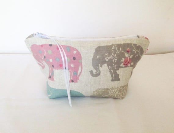 Make Up Bag, sac cosmétique éléphants, éléphants Make Up, éléphants pochette, sac à main vide poche, sac d'accessoires de cheveux, fils Mobile sac, cadeau