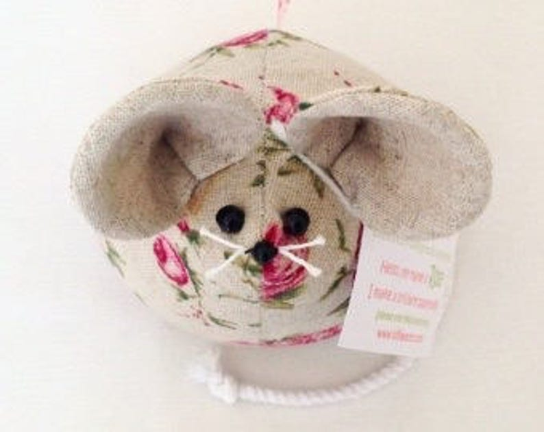 Rose Mouse Paperweight Fabric Ornament Personalised Gift image 0