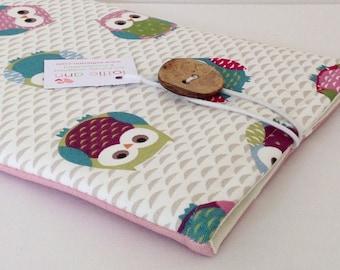 iPad Cover, Owls iPad Cover, iPad Case, Tablet Cover, Tablet Case, Fabric iPad Cover, Fabric iPad Sleeve, Tablet Sleeve, Tablet Cover
