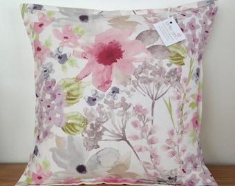 Cushion Cover, Floral Cushion Cover, Pillow Case, Floral Watercolour Cushion, Scatter Cushion, Pink Floral Cushion Cover, Flowers Cushion