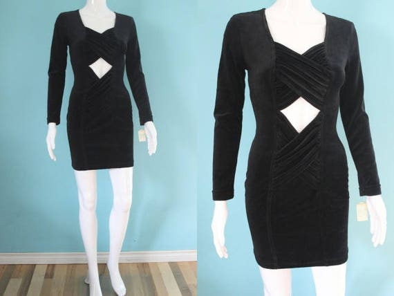 90's Body Con Dress     Early 90's Never Worn Blac