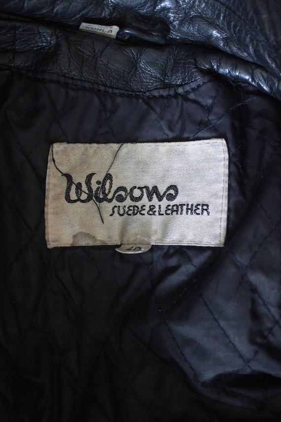 80's Leather Jacket    80's Black Fringed Leather… - image 10