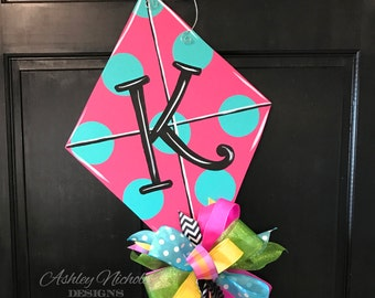Kite Door Hanger, Spring Door Hanger, Summer Door Hanger