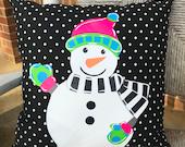18 quot Custom - Snowman - Colorful Full Body - Pillow