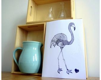 Original Zentangle Flamingo Print