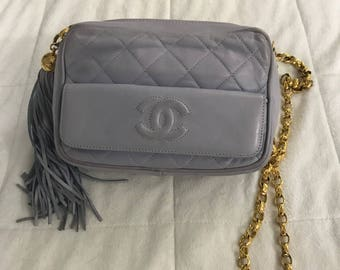 db858eb90bae Authentic rare lilac color vintage Chanel bag. In great condition, its  beautiful and butter soft, made of lamb skin.