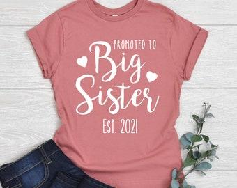 Personalised Big Sister Birthday Present Gift baby Children/'s  T-shirt kids