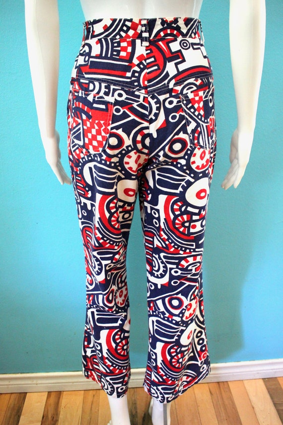 70's Women's Pants Late 60's/Early 70's Red White… - image 7