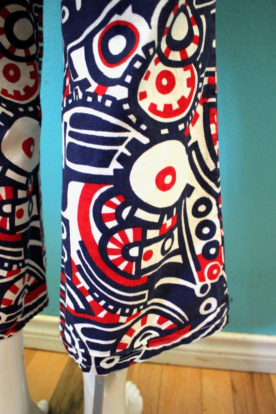 70's Women's Pants Late 60's/Early 70's Red White… - image 9