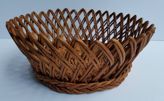 small woven wall hanging woven tray decorative woven wall.htm vintage round wicker open weave basket with decorative edge etsy  vintage round wicker open weave basket