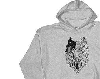 Wolf Prism Hooded Sweatshirt