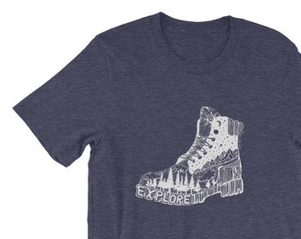 Explore Boot Short-Sleeve Unisex T-Shirt