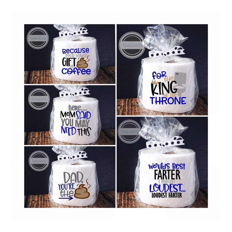 bb37e17b Father's Day Toilet Paper Gifts Father's Day Gag | Etsy