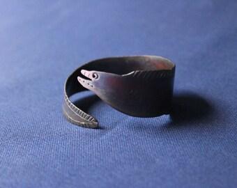 Copper Moray Eel Cuff, Copper Cuff, Copper Bracelet, Cuff Bracelet, Cuff, Patina Cuff, Moray Eel, Copper Moray, Sea Life