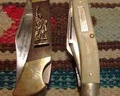 Lot of 2 Vintage Pocket Knifes - Folding Pocket Knife - Lock Blade Knife