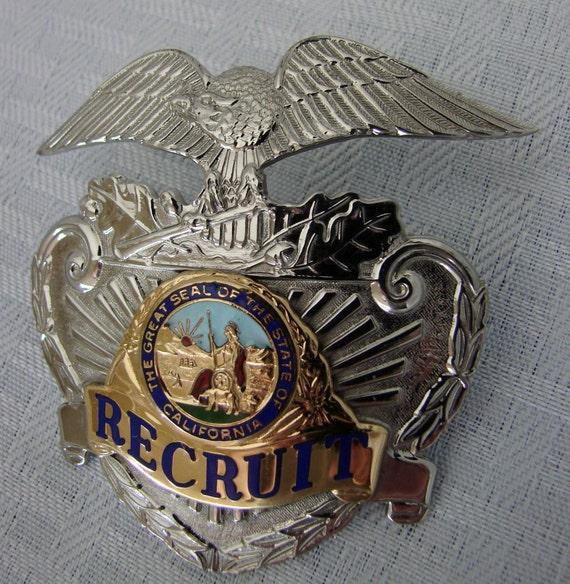 Police Badge - Recruit Police Badge - Sun Badge Company - L A  County