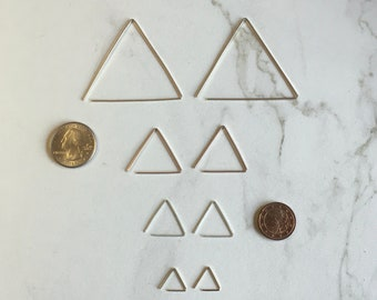 Triangle Threader Earrings (Gold, Rose Gold, or Silver)