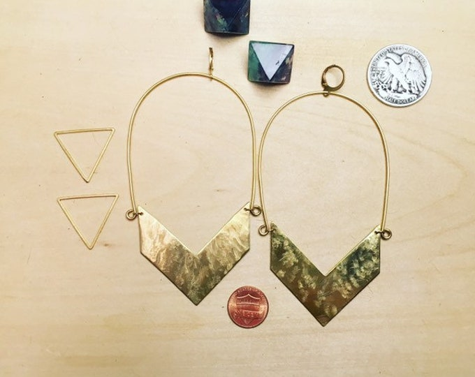 XL Chevron Hoops
