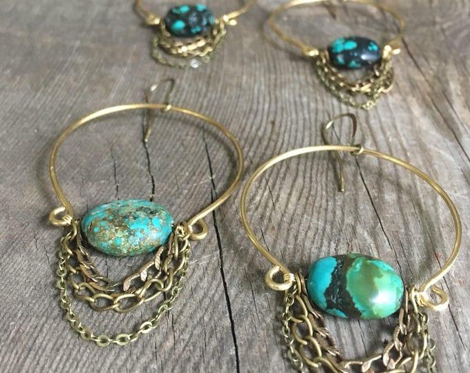 Rose Quartz or Turquoise Chrysocolla Tassel Loops