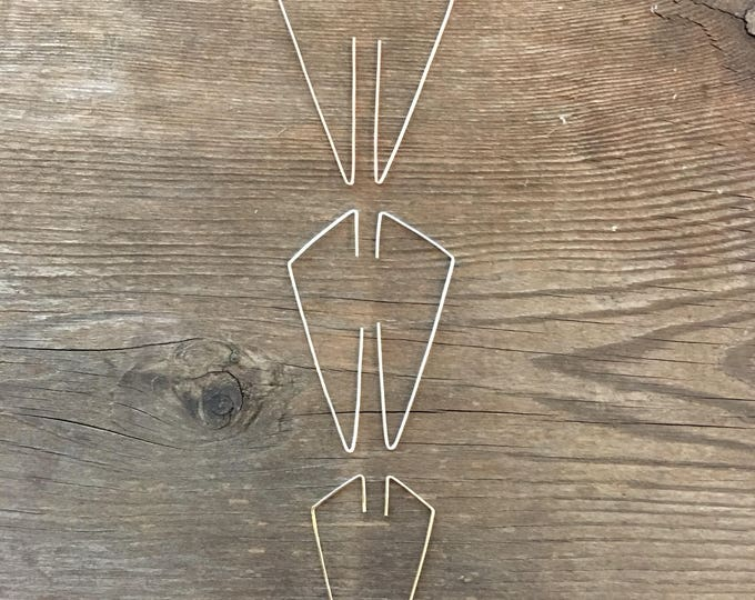 No. 24 Large Angle Threader Earrings in 14K Gold Fill, Rose Gold Fill, or Sterling Silver