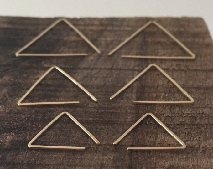 No. 21 Minimal Geometric Triangle Wire Threader Earrings in 14K Gold Filled, rose Gold Filled or Sterling Silver