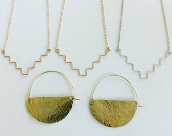 Ziggurat necklace