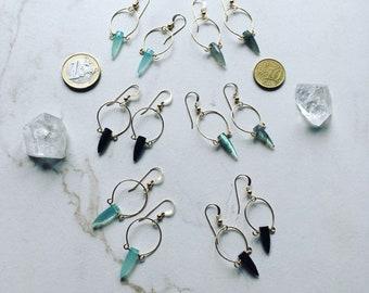 Fine Sterling or 14k gold fill Loupe Earrings