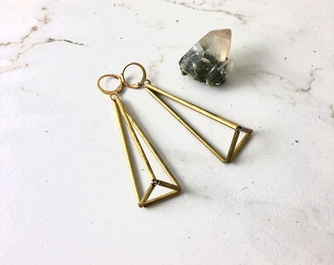 Pyramid Prism Earrings Lightweight Statement Geometric