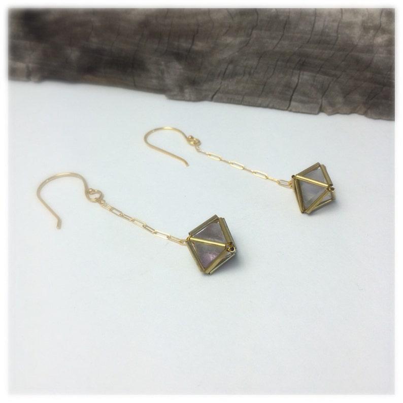 Fluorite Diamond Matrix Earrings