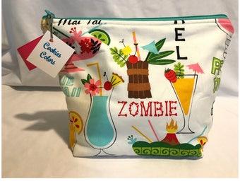 Medium Project Bag - Tropical Drinks