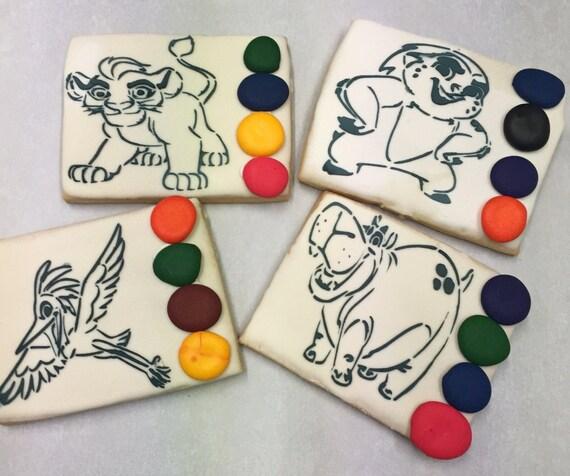 Galletas de azúcar León pintan tus propias galletas de | Etsy