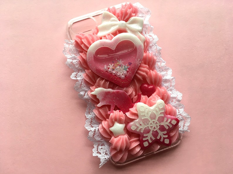 premium selection 4033a 1e67b Pink Winter Decoden Phone Case for iPhone 7 & 8 | Kawaii Decoden Phone Case